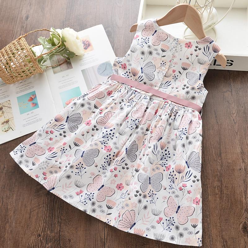 Girls Summer Floral Printed Dress