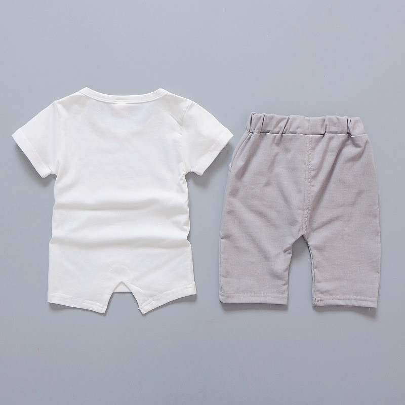 Baby Boy's Cartoon Elephant Printed Clothing Set