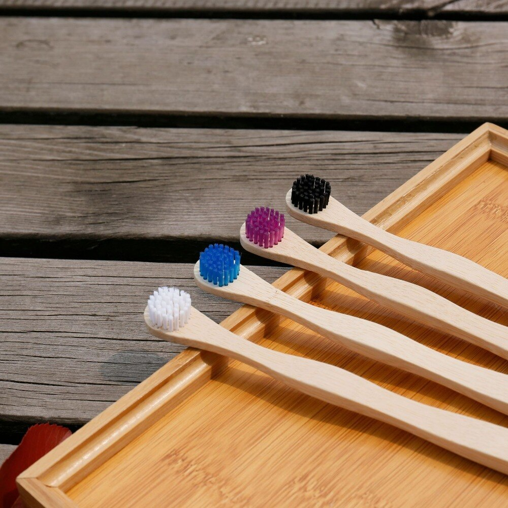 Adult Round Head Shapd Bamboo Toothbrush