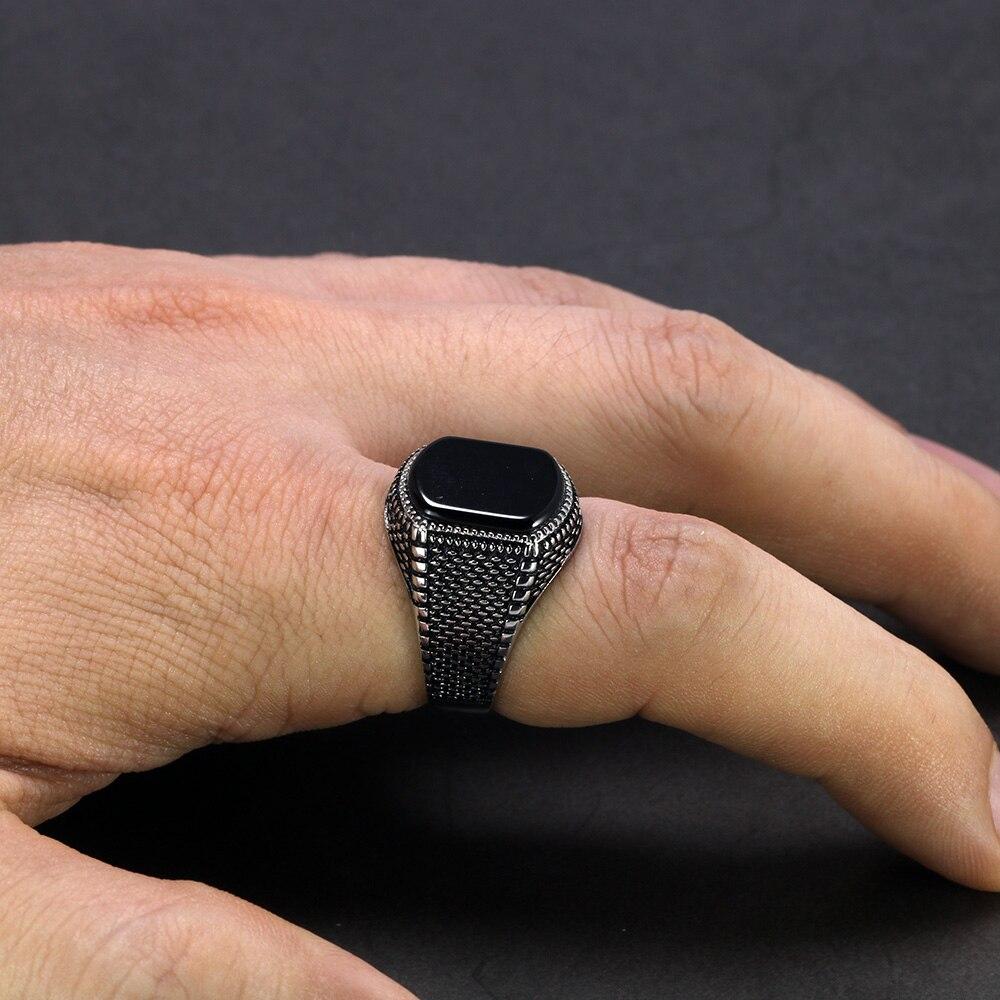 Men's Black Jewelry Ring
