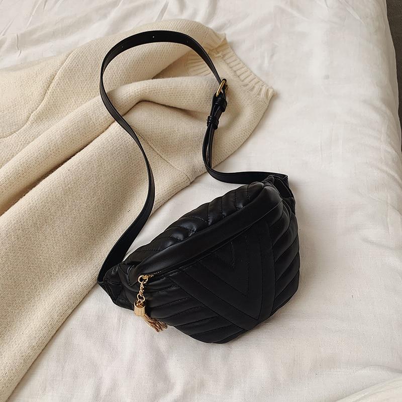 Women's Compact V-Stitched Crossbody Bag