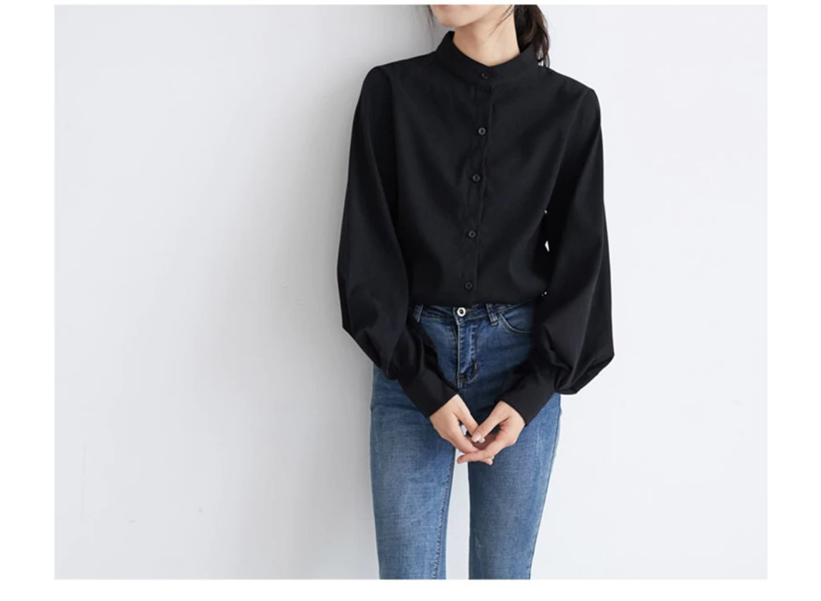 Women's Fashion Big Lantern Sleeved Blouse