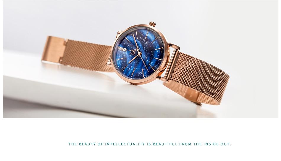 Starry Sky Patterned Women's Watch