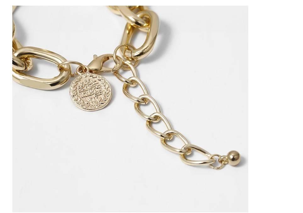 Women's Oversized Chain Bracelet 2 Pcs Set